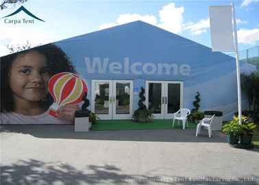 China Blue Outdoor Event Tents With Double - Wing Glass Door , Wedding Canopies factory