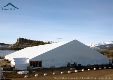China Outdoor Big White Exhibition Fair Canopy Tents Wooden Floor 45m*65m factory