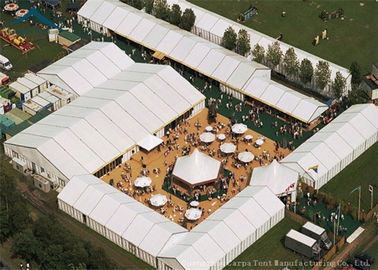 China Width 15m Durable Aluminium Frame Warehouse Tents Use For Exhibition Event factory