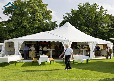China White Mixed Party Marquees Tents With Aluminium Width 20m Outdoor Canopy distributor