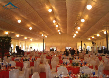 China 20 x 30 Large Wedding Tent  Luxury Linings / Curtains  400 People Parties distributor
