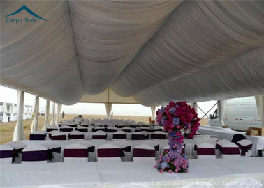 China Arabic Large Wedding Tents  For Outdoor Party  Roof Linings And Curtains factory