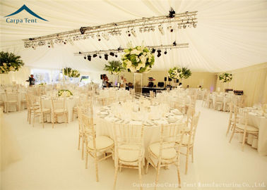 China Elegant Decoration Romantic Wedding Tents With Roof Linings , Curtains And Chair factory