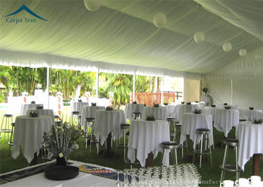 China European  Style Aluminium Frame Party Tents With Roof Linings And Curtains distributor