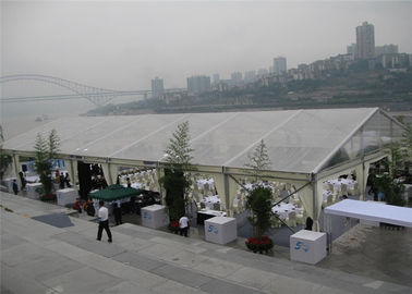 China White 15m x 30m Aluminum Frame Tent Transparent PVC Fabric For Commercial Activities factory