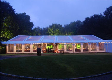 China Large Wedding Tents 100 People Flame Retardant With Decoration Cellings factory