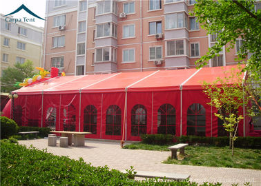 China Chinese Red  Large Wedding Tents Sun Proof / Fire Proof  PVC  Fabric factory