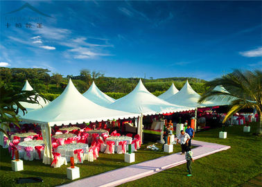 China Aluminium Frame Tarpaulin Covered Marquees For Wedding With Windowed Walls factory