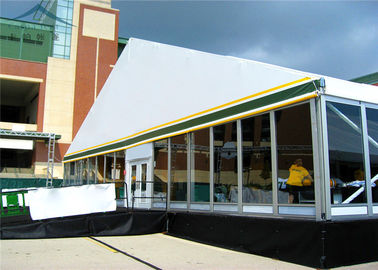 China Waterproof  Marquees Tent With 100% Space Usage And Glass Walls distributor