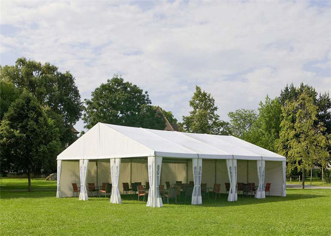 White Canvas Clearspan Fabric Structures Event Tent With Economical Wooden Flooring