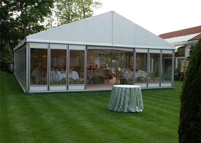 15m 25m Aluminum Frame Structure Glass Tent Wedding With