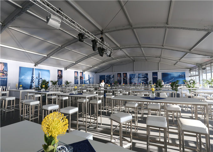 White Durable Dome Structure Canopy Tent 25m By 40m For Trade Show