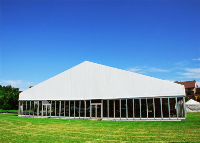25m * 30m Permanently Installed Glass Wall Tents For Commercial Ceremony