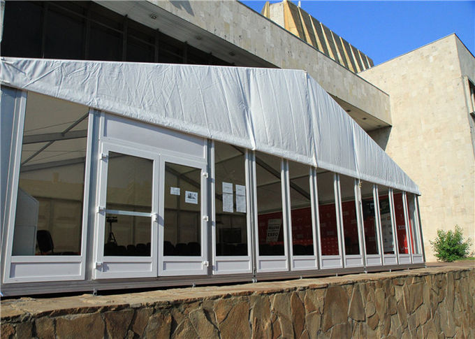 20m By 35m Glass Wall Trade Show Tent A Frame Structure Canopy Tent