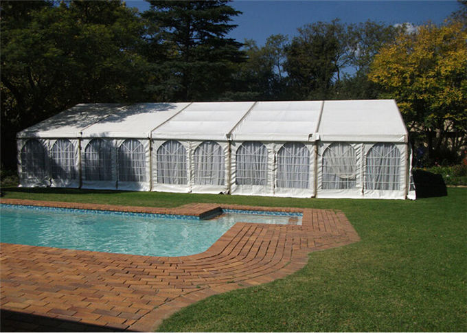 Blockout Tarpulin Canvas White Event Tents 15m By 30m Custom Design