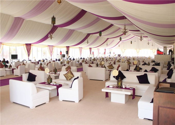 Metal Frame Canopy Event European Style Tents Luxurious Roof Linings And Curtains