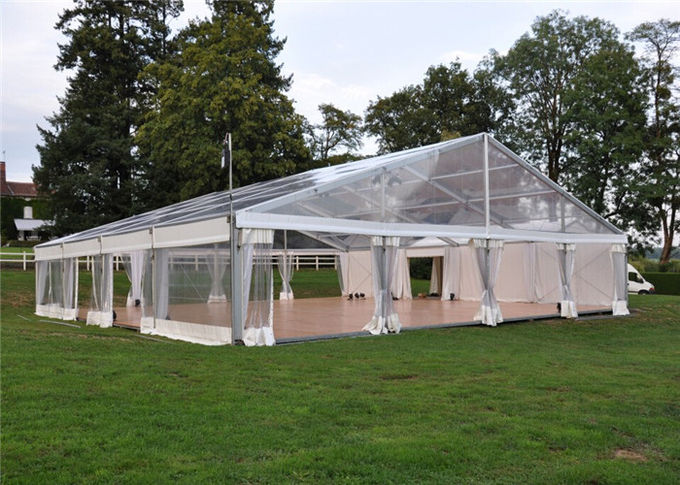 Posh Permanent Transparent Garden Party Tent Clear White 10m X25m & Permanent Transparent Garden Party Tent Clear White 10m X25m