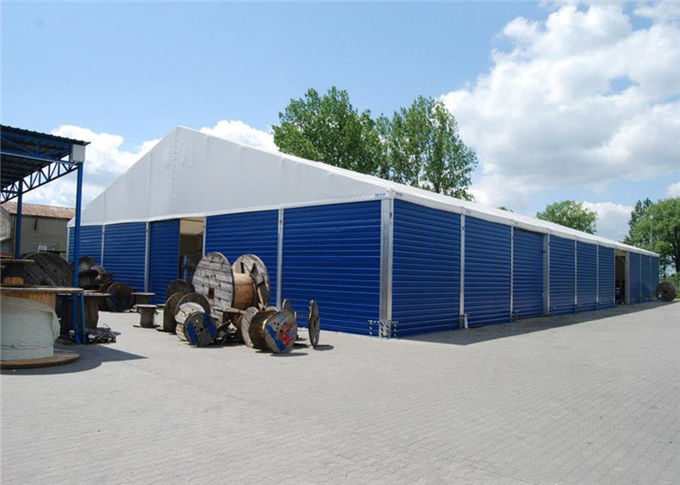 Aluminum 30m*50m Storage White Canopy Tent Clear Top Tents 80-100km/H