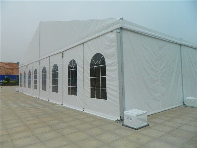 5m Bay Distance White Fabric Marquee Tent Folding Tent UV - Resistant