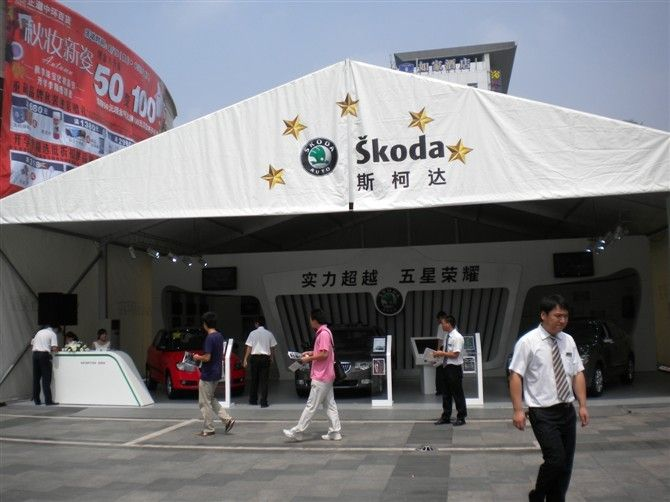 Customized Permanent Classical Roof Tent European Style For Trade Show