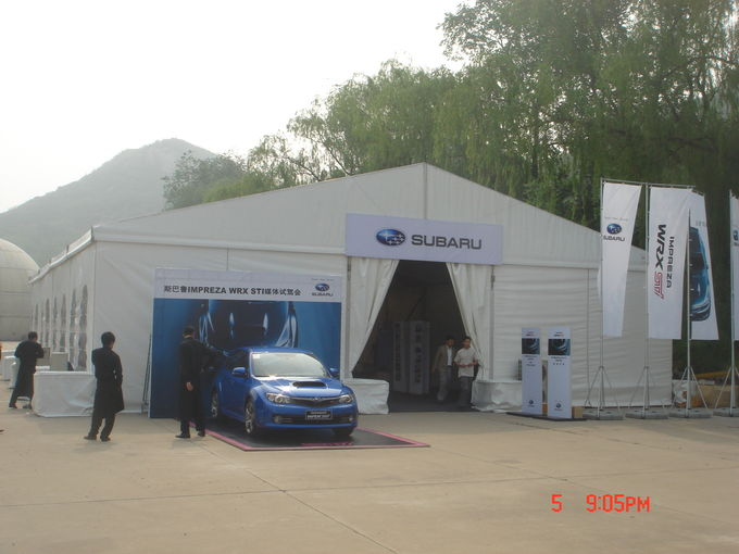 12m Span Water Resistant Small Aluminum Structures Event Tents For Car Show