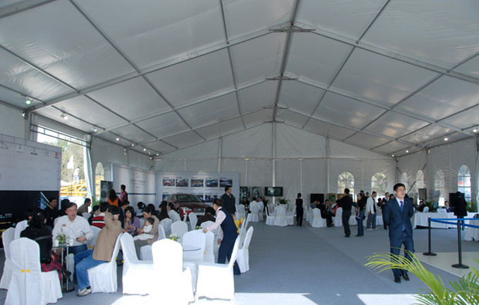 Long Life Span Fabric Structure White Canopy Tent 18mx30m 100km/h
