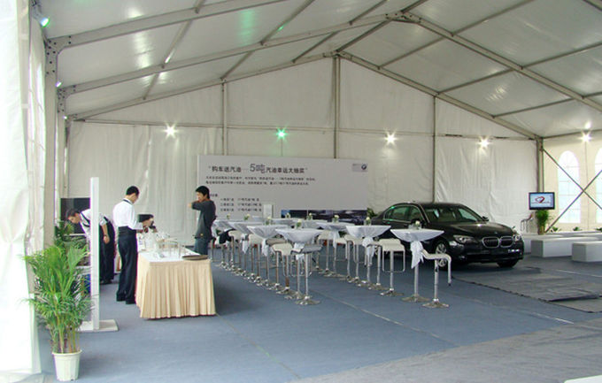 Relocatable Building Safety Exhibition Tents Economical Wooden Flooring