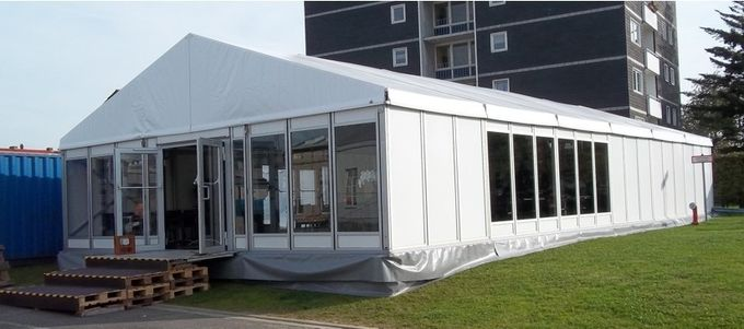 Waterproof Glass Wall Tents Outdoor White Garden Pavilion Canopies