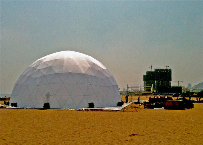 6m Outdoor Small Geodesic Dome Shelter For Resorts Flame Retardant DIN4102 B1 M2 B1