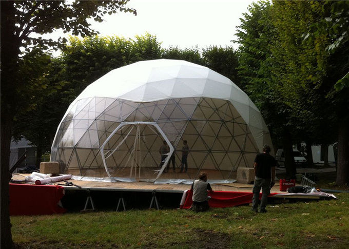 Wind Proof Free Span Large Geodesic Dome Tent For Events With Marvelous Design