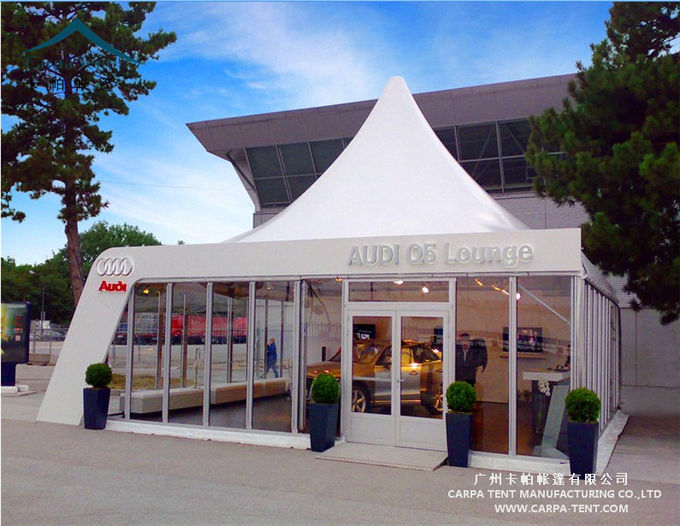 Aluminum Large Pagoda Tents With Glass Wall / Outdoor Event Tent