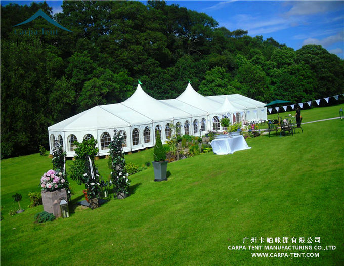 Wind Resistant Clear Wall Outdoor Event Tents With High Peak Pagoda