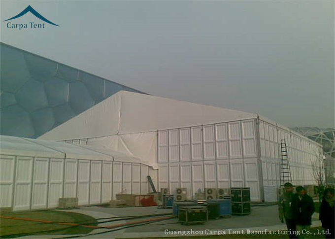 White Marquee Outdoor Storage Tent  PVC Fabric Aluminum  ABS Wall