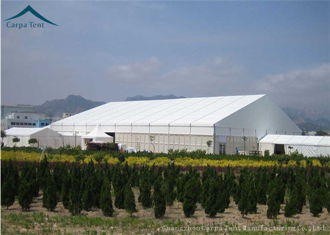 Large rainproof clear span buildings for temporary for Clear span garages
