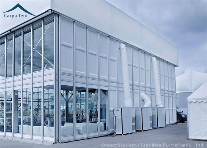 Large Double Deck Custom Event Tent  Water Proof Glass Wall For Exhibition