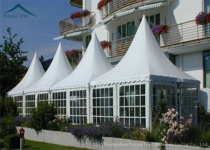 White Outdoor Party Pagoda Tents  PVC Roof  Canopy Wedding Tent Water Proof 6m * 6m