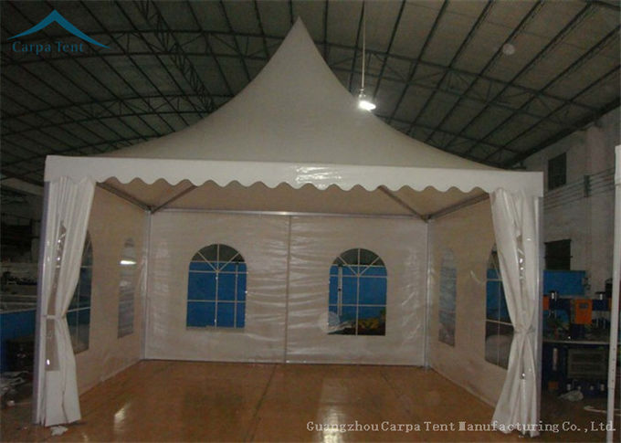 Temporary Building Flexible Pagoda Tents Waterproof Canvas 6m x 6m Canopy