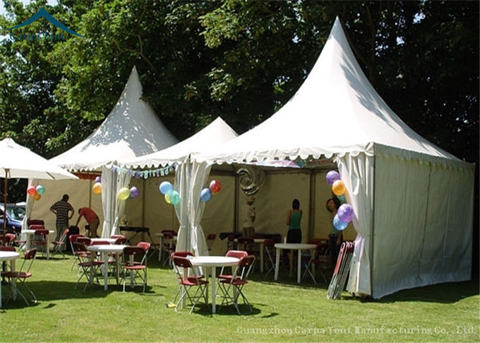 White Pagoda Tents 5m * 5m UV - Resistant  Garden Wedding Reception