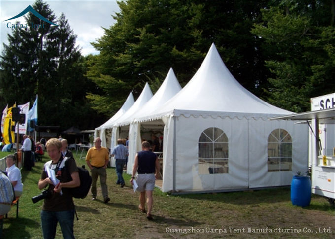 5x5m Aluminum High Peak Pagoda Carpa Marquee Tent For Wedding Party