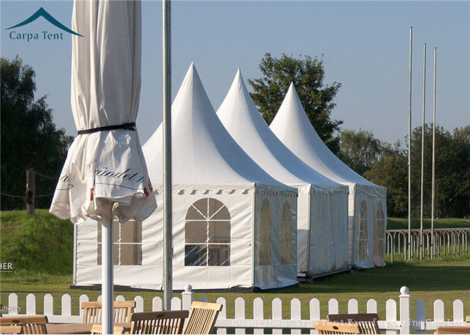 Portable But Durable Pyramid Pagoda Tents / Aluminium Frame/ PVC Fabric Covers