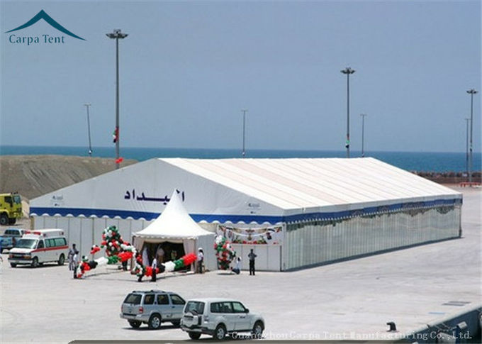 Big Aluminium Waterproof PVC Exhibition Tents Blue 40m*60m For Event