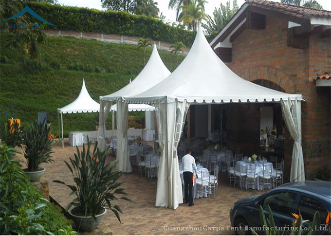 Easy-Assembly Aluminium Frame Pagoda Tents For Outdoor Wedding Parties With 5m by 5m Size