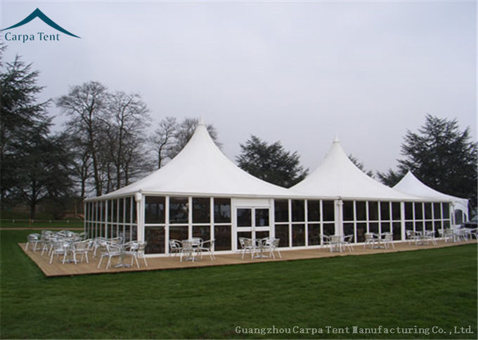 Glass Wall Outdoor Event Tents Pagoda Shape With Aluminum Structure