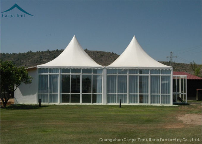 Aluminum Frame Pagoda Party Tent  Glass Wall For Outdoor Event