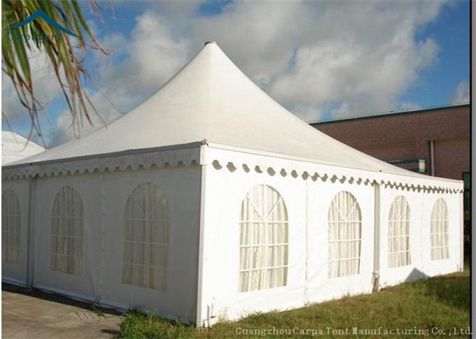 Royal Stretch Wedding Party Pagoda Tents Aluminum Alloy Frame 5x5m 6x6m