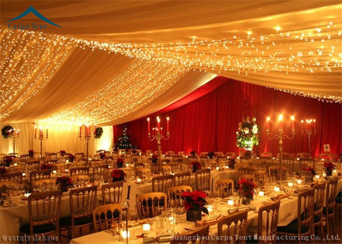 Beautiful Lining Decorations Glass Wall Tents With Aluminum Structure