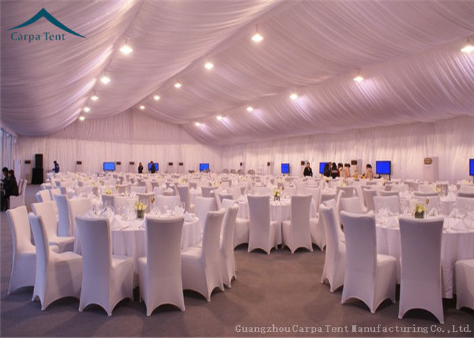 1000 People Capacity Wedding Party Outdoor Event Tents Self - Cleaning Ability