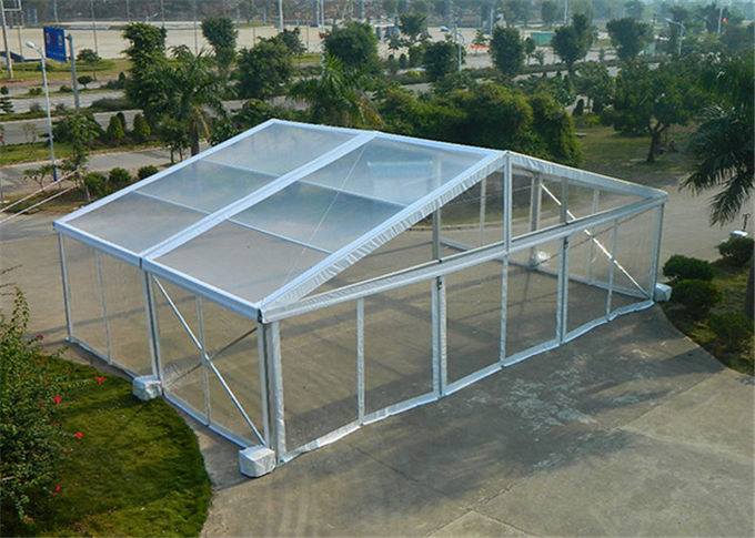 Fire / Water Proof Transparent Tent Fabric Clear Event Tents 20m * 50m