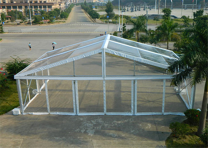 White 15m x 30m Aluminum Frame Tent Transparent PVC Fabric For Commercial Activities & 15m x 30m Aluminum Frame Tent Transparent PVC Fabric For ...