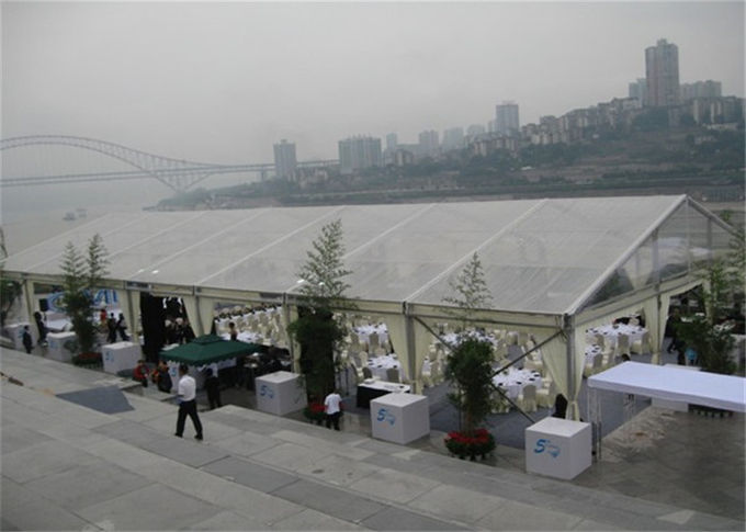 Arabic Style Fire Proof Clear Event Tent Clear Party Tent 15m * 35m With Tables / Chairs